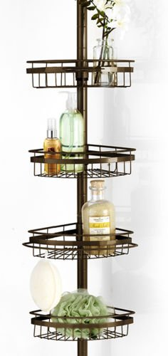 Ultimate 4 Wire Shelf Corner Pole BathTub Adjustable Shower Caddy – Orb