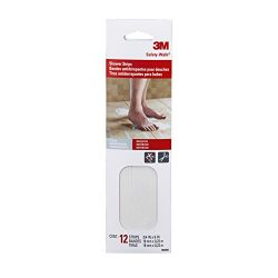 3M Safety-Walk  Shower Strips, 0.75-Inch by 9-Inch, Clear, 12 Strips per Pack, 7642NA