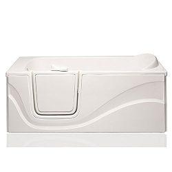 American Tubs SAIN3060LL 30″ x 60″ Soaker Walk-in Bathtub – Left Drain (White)