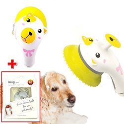 Pet Perfect Wash, Massage, Grooming Handheld Shower head Brush for Shiny Fur and Skin, Thank you ...