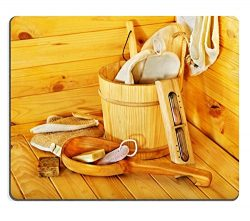 Liili Mouse Pad Natural Rubber Mousepad IMAGE ID: 22259187 Still life with sauna accessories Indoor