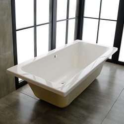 66 In Drop-in Bathtub – Acrylic White (A-KBATH75)