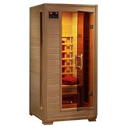 1-2 Person Hemlock Infrared Sauna w/ 3 Ceramic Heaters