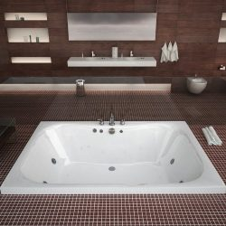 Atlantis Whirlpools 4860nwl Neptune Rectangular Whirlpool Bathtub, 48 X 60, Center Drain, White