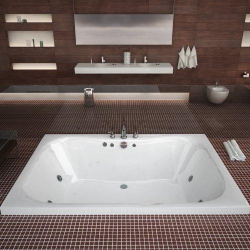 Atlantis Whirlpools 4060n Neptune Rectangular Soaking Bathtub, 40 X 60, Center Drain, White