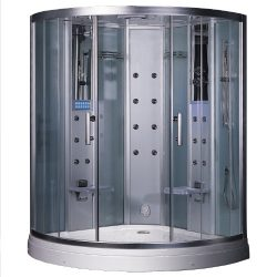 Ariel Platinum DZ938F3 Steam Shower, 59″ x 59″ with Body Massage Jets