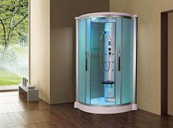 Sliding Door Steam Shower Enclosure Unit Glass Color: Frosted