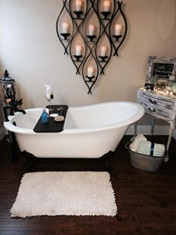 67″ Cast Iron Slipper Tub with 7″ Faucet hole Drillings & Oil Rubbed Bronze Feet ...