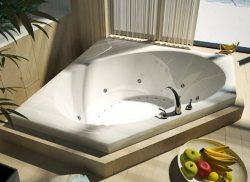 Atlantis Whirlpools 6060vdl Venus Corner Air & Whirlpool Bathtub, 60 X 60, Center Drain, White
