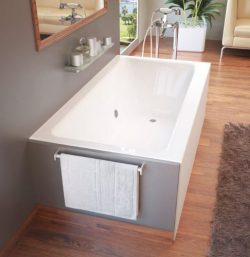 Atlantis Whirlpools 3260shwl Soho Rectangular Whirlpool Bathtub, 32 X 60, Left Drain , White