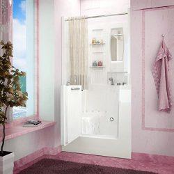 Spa World Venzi Vz3140rwd Rectangular Air & Whirlpool Walk-In Bathtub, 31×40, Right Dra ...