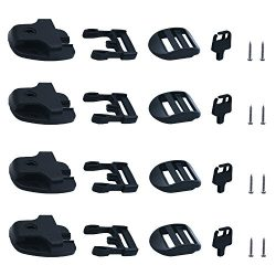 [4 packs]Tub Cover latch Broken Latch Repair Kit repair Clip Lock with keys and hardwares for Sp ...