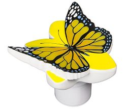 Poolmaster 32128 Butterfly Chlorine Dispenser – available in Yellow or Blue
