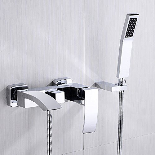 JinYuZe Modern Brass Waterfall Wall-mount Bath Tub Filler ...