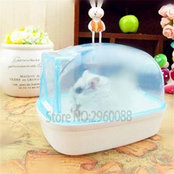 2017 New Bathroom bathroom Sauna Bathtub Small Pet Hamster Mouse Squirrel can effectively preven ...