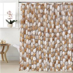 Gzhihine Shower curtain stone wall decoration texture on modern building facade artistic archite ...