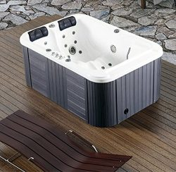 2 Person Hydrotherapy Bathtub Hot Bath Tub SPA – 085B (Add Hard Top Cover)