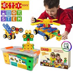 ETI Toys | STEM Learning | Original 101 Piece Educational Construction Engineering Building Bloc ...
