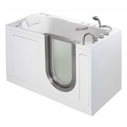 55″ x 30″ Deluxe Massage Whirlpool Walk In Tub Door and Drain Location: Right