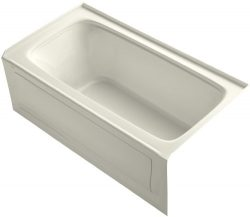 KOHLER K-1150-RA-96 Bancroft 5-Foot Bath with Right Hand Drain, Biscuit