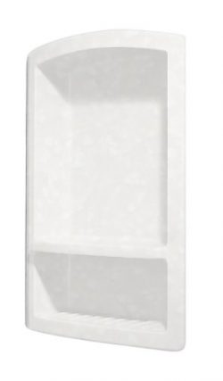 Swanstone RS-2215-011 Recessed Shampoo Shelf, Tahiti White Finish