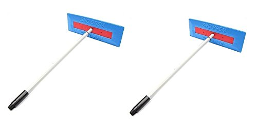 SnoBrum Original Snow Removal Tool with 27″ to 46″ Compact Telescoping Handle- Remov ...