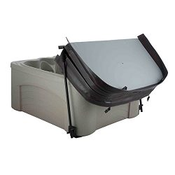 Universal Undermount Spa Hot Tub Cover Lift w skirtless attachment for square or rectangle spas  ...
