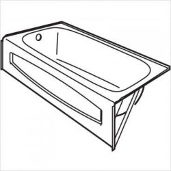 American Standard 0155017.222 Salem 14″ Recessed Bath Tub