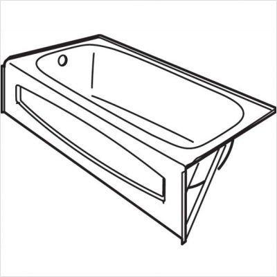 American Standard 0155017 222 Salem 14 Quot Recessed Bath Tub