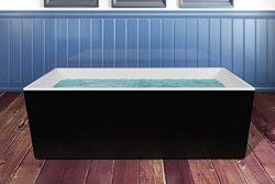 AKDY® 67″ Luxury Bathroom Freestanding Body Contemporary White Acrylic Shower Spa Soaking  ...