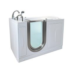 Petite MicroBubble Walk-In Bathtub, Left Drain, with Roman Fast-Fill Faucet