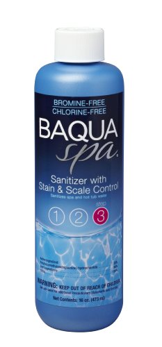 Baqua Spa #3 Sanitizer with Stain & Scale Control 16 Oz.