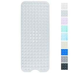 Yimobra Bath Tub and Shower Mat Extra Long 16 x 40 Inch,Machine Washable,Anti Bacterial,Phthalat ...