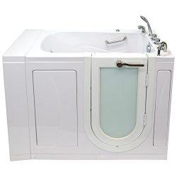 Ella OA3052H-R Malibu Acrylic Walk-in Hydro Massage Bathtub, Rhs Outward Swing Door, Thermostati ...