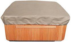 Budge English Garden Square Hot Tub Cover, Large (Tan Tweed)