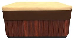 Budge All-Seasons Square Hot Tub Cover, Medium (Khaki Brown)