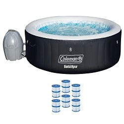 Coleman 71″ x 26″ Inflatable Spa 4-Person Hot Tub with 6 Filter Cartridges