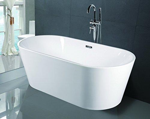 Empava A1507w Luxury Modern Bathroom Freestanding Bathtub