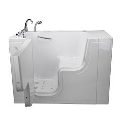 Ella OLA3052D-L-HBD Transfer Acrylic L Shape Wheelchair Accessible Massage Walk-in Bathtub with  ...