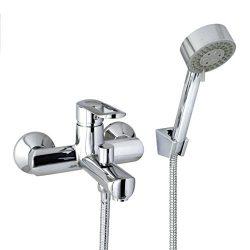 MODONA 6″ European Style Tub & Shower Mixer with Hand Held Shower Set – Single Handle  ...
