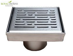 Royal Square Shower Drains – Broken Lanes Design – stainless steel Luxurious line by Seren ...