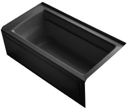 KOHLER K-1123-RA-7 Archer 5-Foot Bath with Comfort Depth Design, Integral Apron and Right-Hand D ...