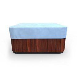 Budge All-Seasons Square Hot Tub Cover, Medium (Blue)