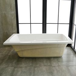 66 x 36 In Drop-in Bathtub – Acrylic White (A-K14791-ET)
