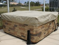 CoverMates – Square Hot Tub Cover – Cap 84W x 84D x 14H – Elite Collection – 3 YR Warranty – Yea ...