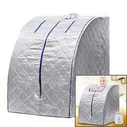 Homdox Lightweight Personal Portable Steam Sauna SPA Detox Weight Loss Indoor
