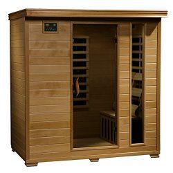 4-Person Hemlock Infrared Sauna w/ 9 Carbon Heaters