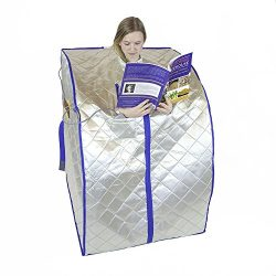 FIR-Real Portable Far Infrared (FIR) Sauna (Large) with Low EMF Heating Panels