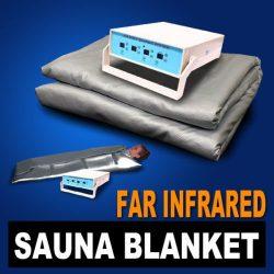 Improved 3 Zone FIR Far Infrared Sauna Slimming Blanket Weight Lose Spa Detox- Blue