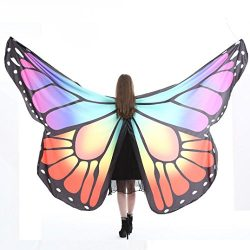 Livoty Egypt Belly Wings Dancing Costume Butterfly Wings Dance Accessories No Sticks( 260150CM/1 ...